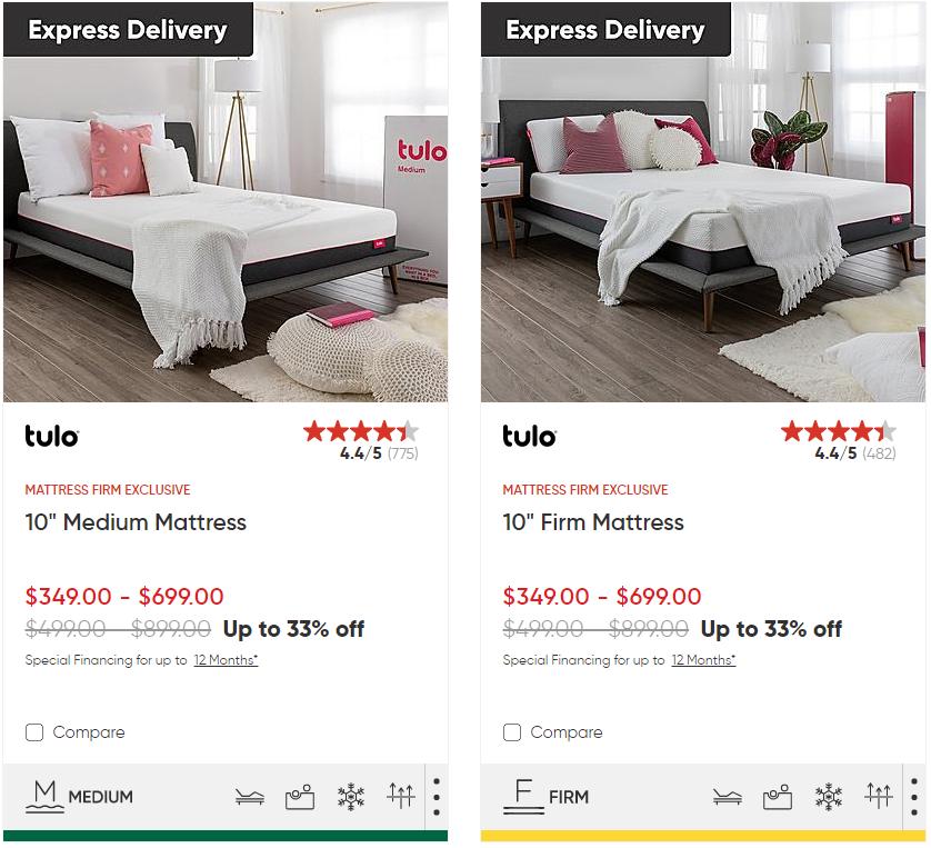 tulo mattress under $500