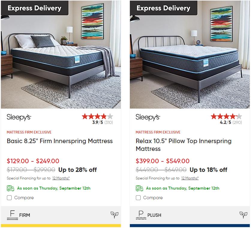 sleepy's price under $500