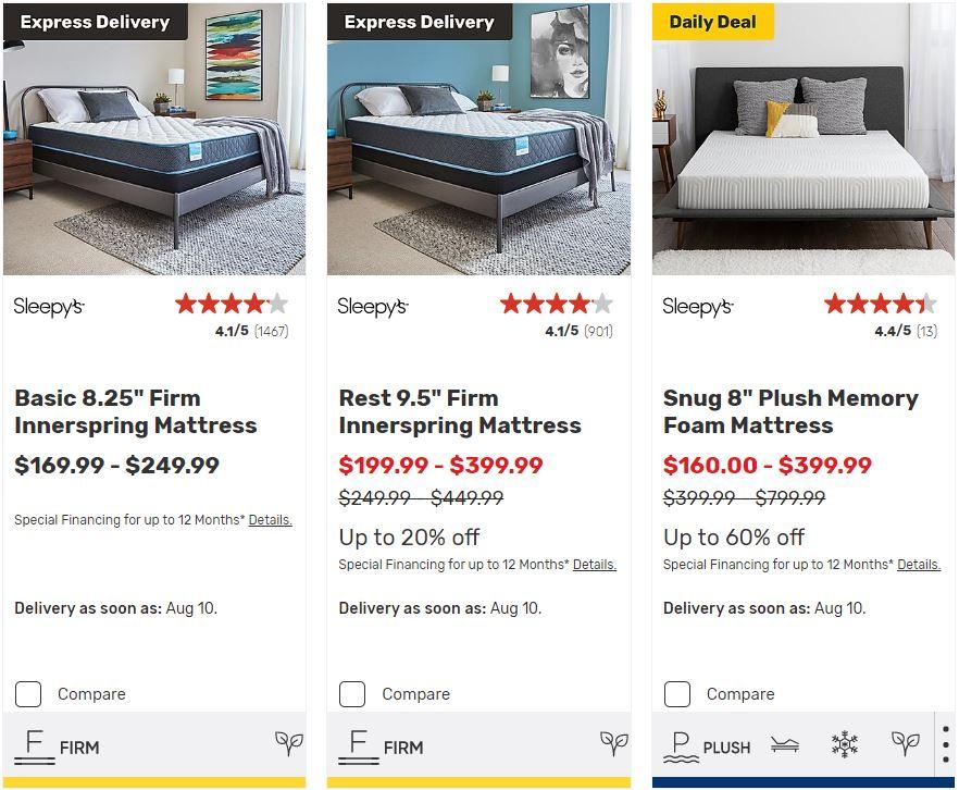 Sleepy's Mattress Special Sale